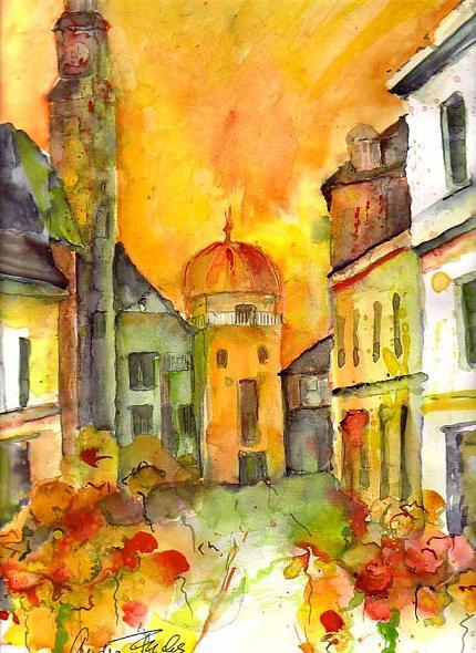Bild (c) Andrea Zahradnik, Titel: Leoben Schwammerlturm